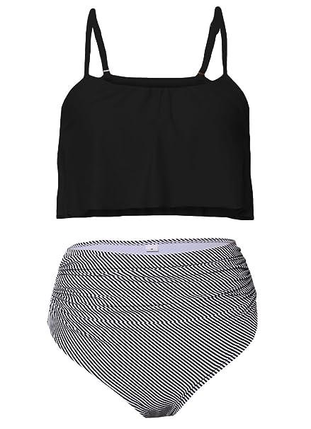Amazon.com: Dearlove Traje de baño de cintura alta para ...