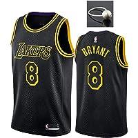 Camiseta de Baloncesto Kobe Bryant para Hombre, Lakers # 8# 24 Black Mamba Conmemorative Edition Mesh Swingman Jersey…