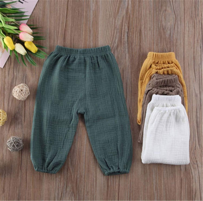 Toddler Infant Baby Girl Boy Pants Wrinkled Cotton Vintage Bloomers Trousers Legging