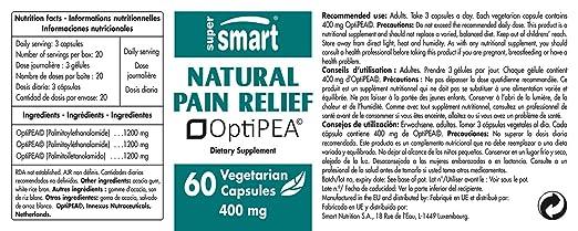 Amazon.com: SUPERSMART - Natural Pain Relief 400 mg - Vegetarian Capsules - Natural Pain Killer: Health & Personal Care