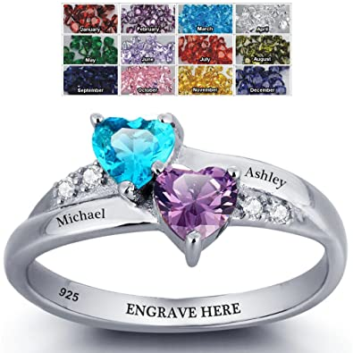 Amazoncom Engagement Ring Promise Ring For Her Couples 2 Heart