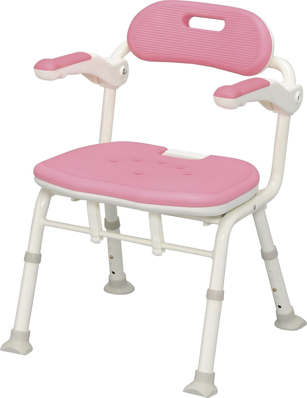 アロン化成 安寿 折りたたみシャワーベンチISフィット ピンク B008JA0N8W ノーマルタイプ ピンク ノーマルタイプ ピンク