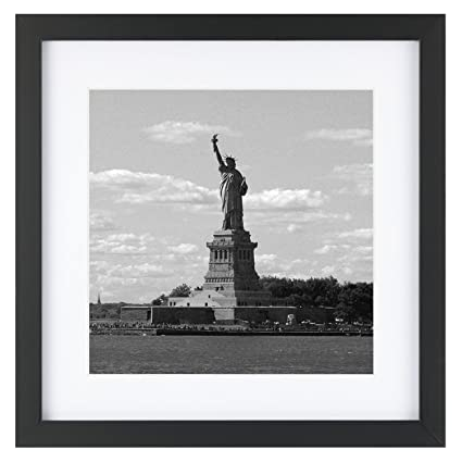 Buy 11x11 Square Picture Frame Black with 1 Mat for 8x8 Picture Wood