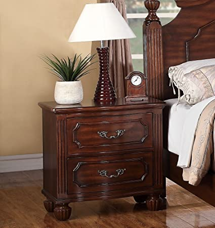 Poundex PDEX-F4821 Nightstands, Brown