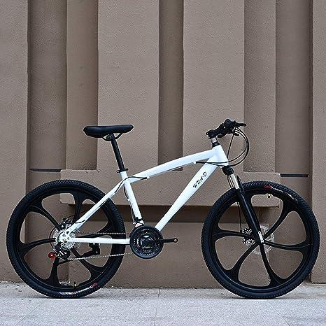AISHFP Bicicleta de montaña, Bicicleta de Carretera para Estudiantes Adolescentes, Doble Freno de Disco, Ruedas de 26 Pulgadas, Hombres Adultos, Mujeres, propósito General: Amazon.es: Deportes y aire libre