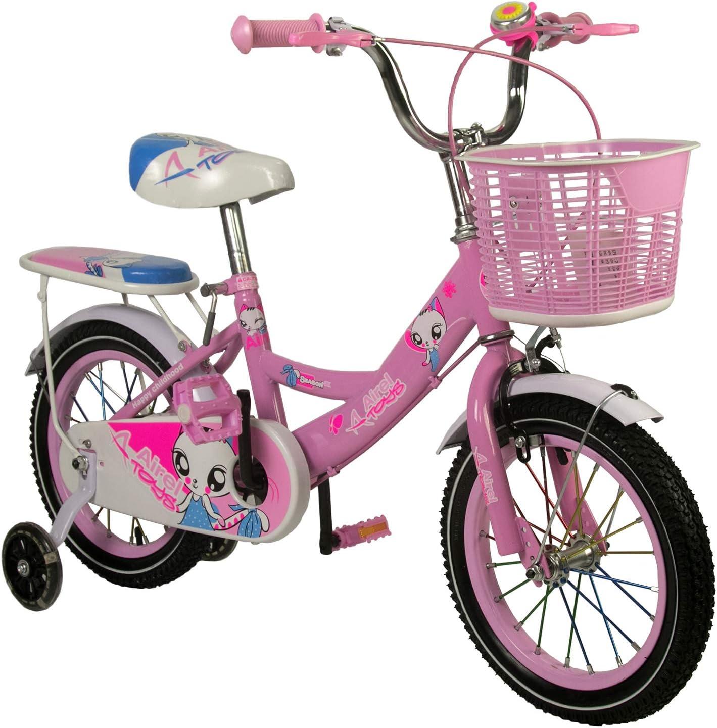 Zerimar Infantiles para niñas ruedines y Cesta| Bici niña