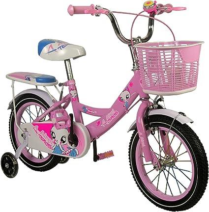 Zerimar Infantiles para ni/ñas ruedines y Cesta Bicicletas 3-7 a/ños Bici ni/ña 14,16,18 Pulgadas