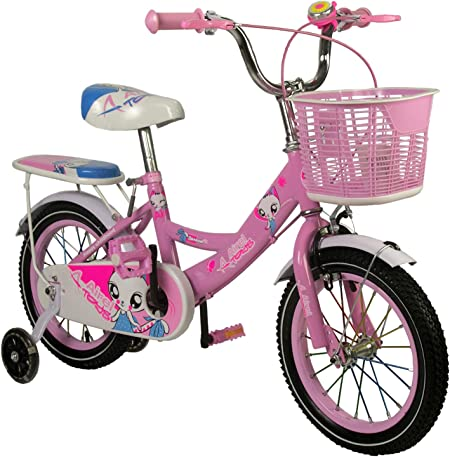 Zerimar Infantiles para niñas ruedines y Cesta | Bici niña 14,16 ...