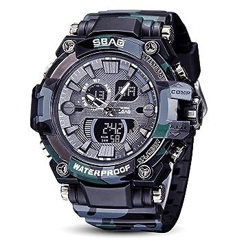 003b2337acb5 Logobeing Reloj LED Digital Hombre Pulsera Relojes Deportivos Impermeables  Electrónica Digital (Negro2)  Amazon.es  Deportes y aire libre