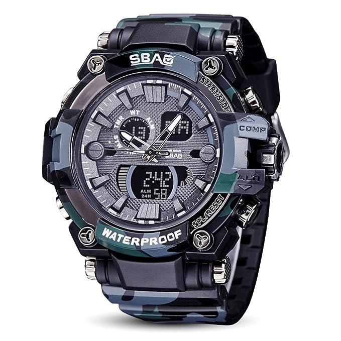 Amazon.com: Islandses SBAO Reloj LED para hombre ...