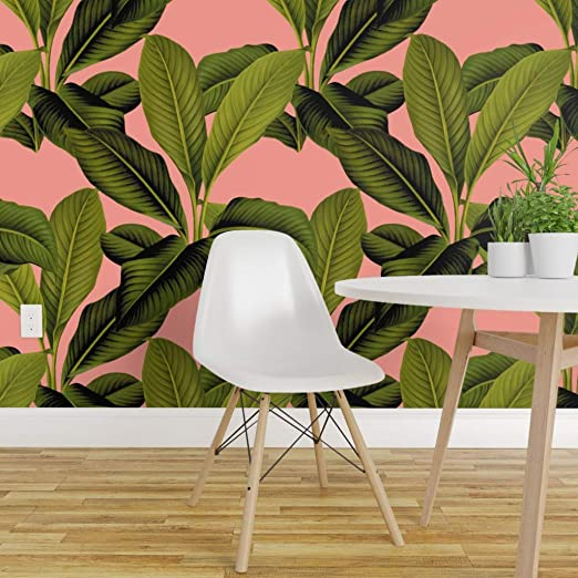 Spoonflower Peel And Stick Removable Wallpaper Botanical Palm
