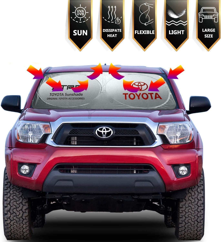 L/&U Auto Windschutzscheibe Sonnenschutz Faltbare Sonnenblende Schutz f/ür die meisten Toyota Yaris 4Runner Levin VIOS EX IZOA RAV4 Avalon Reiz C-HR Bl/öcke UV-Strahlen