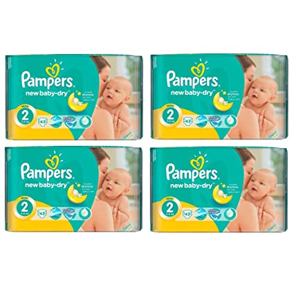 PAMPERS Active Baby Dry Pañales Mini 2 tallas 3 – 6 KG Talla:4