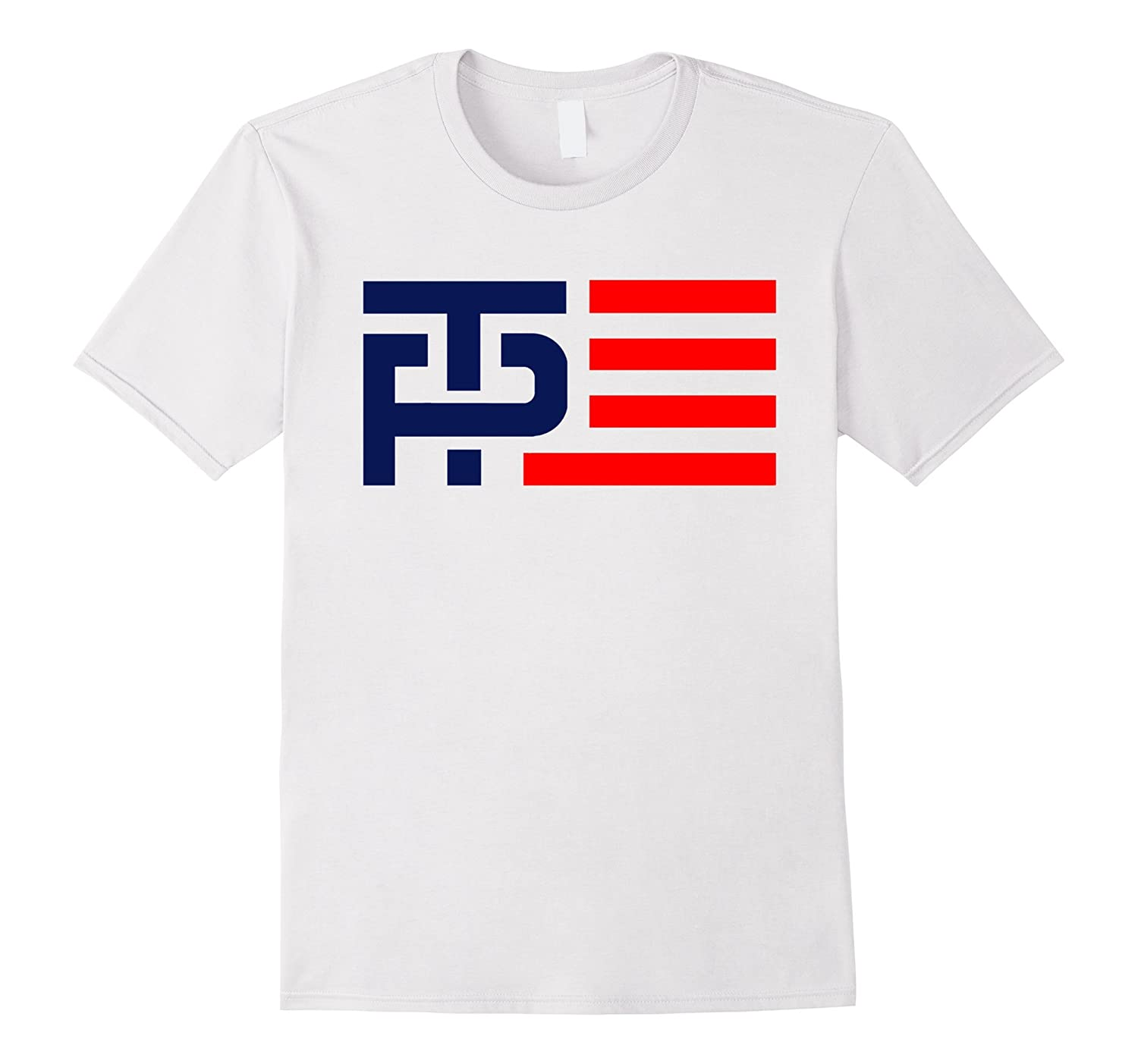Donald Trump Mike Pence Logo Flag 2016 T-Shirt-TD
