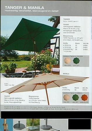 Especial sustancias – Outdoor elegante – Manivela – Madera de sol pantalla – 100% Poliacrílico – Teflón – sin cenefa, con apertura de Wind – Modelo: Manila – Alicates montaña – Alemania – 300 cm – 8 piezas – 18 Colores – A