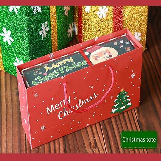 Vaxiuja Kit de Navidad, Caja, Paquete de Que Incluye Santa Claus + árbol de Navidad 2 Toallas de Mano con Caja de Regalo Decoración de Navidad Towel Toalla ...