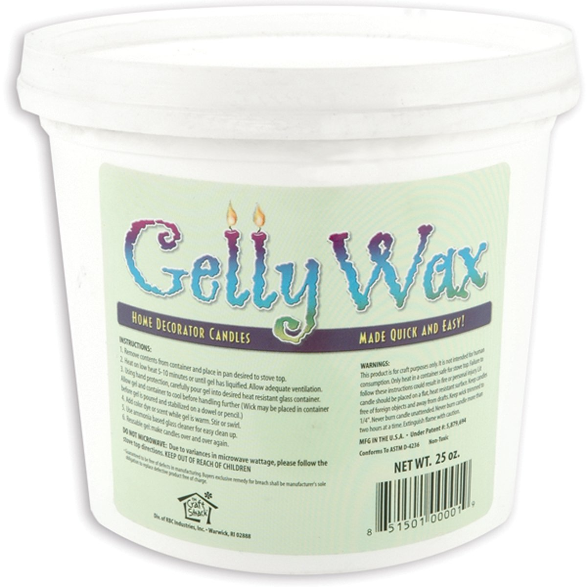 Gelly Candle Wax, 25-Ounce, Clear Notions - In Network 02500
