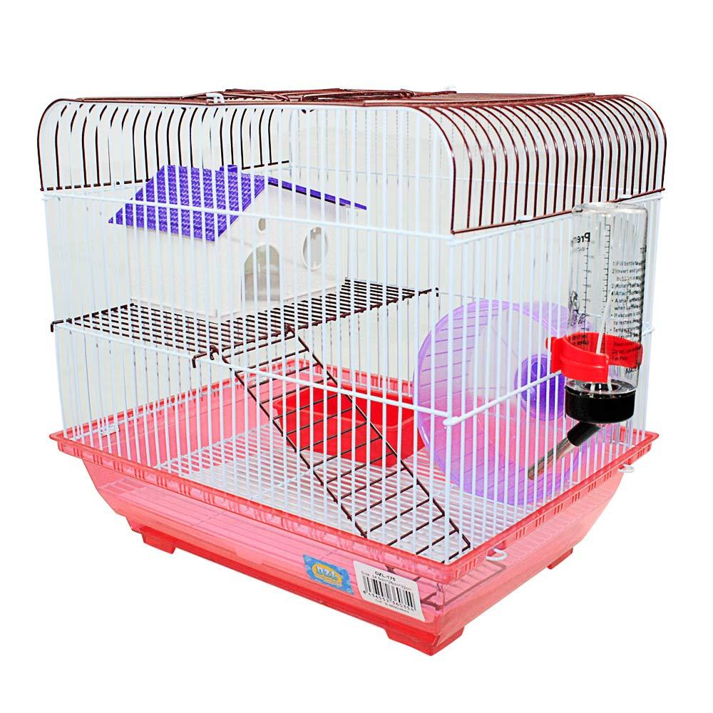 DI ZE LIN PET HOME S.L DZL® Jaula para Hamster 34.5 * 26 * 32cm ...
