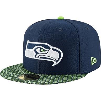 3f31e832d6c8ea New Era 59Fifty Hat Seattle Seahawks NFL 2017 On Field Sideline Fitted  Headwear Cap (7