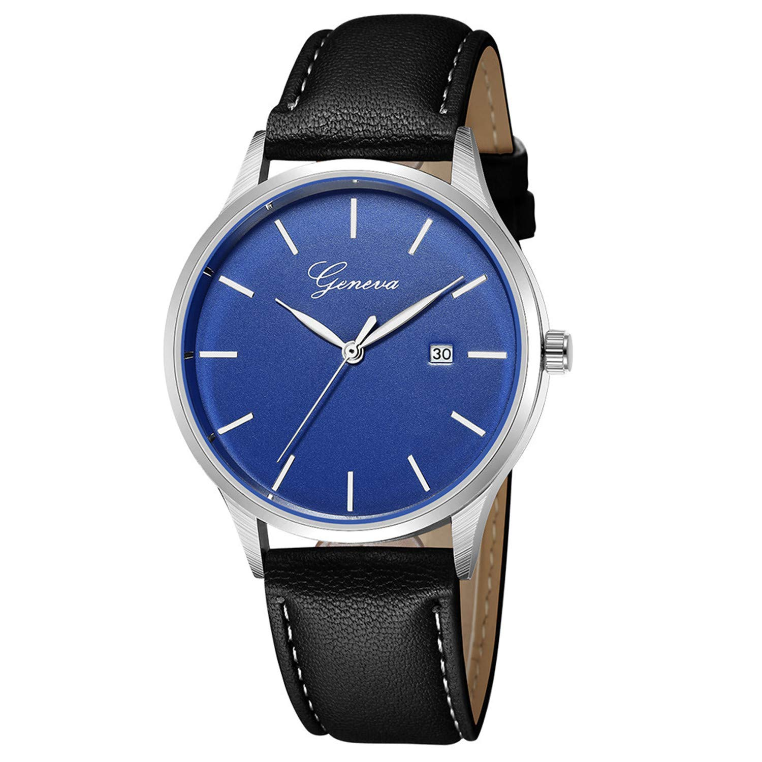 Amazon.com : freedomer Simple Mens Wrist Watch Top Luxury Leather Quartz Wrist Watch Men Sport Watch relojes para Hombre(D, 1) : Sports & Outdoors