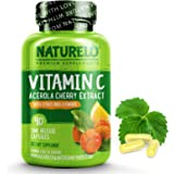 NATURELO Vitamin C with Organic Acerola Cherry Extract and Natural Citrus Bioflavonoids - Whole Food Vegan Supplement…