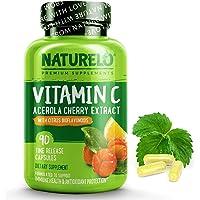 NATURELO Vitamin C with Organic Acerola Cherry and Natural Citrus Bioflavonoids - Whole Food Vegan Supplement - 500 mg…