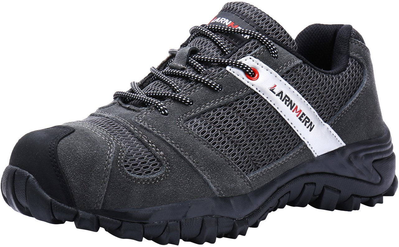 LARNMERN Work Shoes for Men, LM-18 Men's Steel Toe Safety Shoes Breathable Comfortable Footwear Slip Resistant by LARNMERN