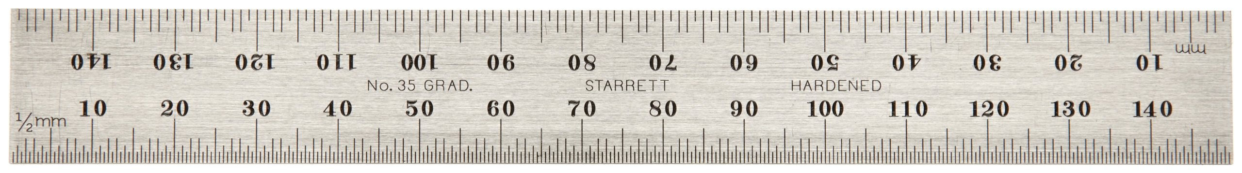Starrett B150-35 Millimeter Blade For Combination Squares, Sets And Bevel Protractors, Regular Finish, 19mm Width, 2mm Thickness, 150mm Size