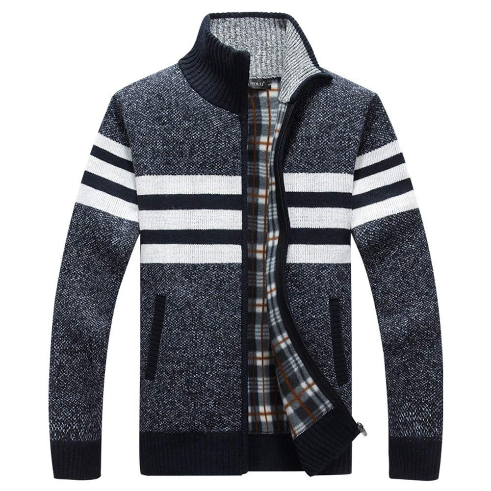 Dolwins Mens Zip Knitted Cardigan Sweater