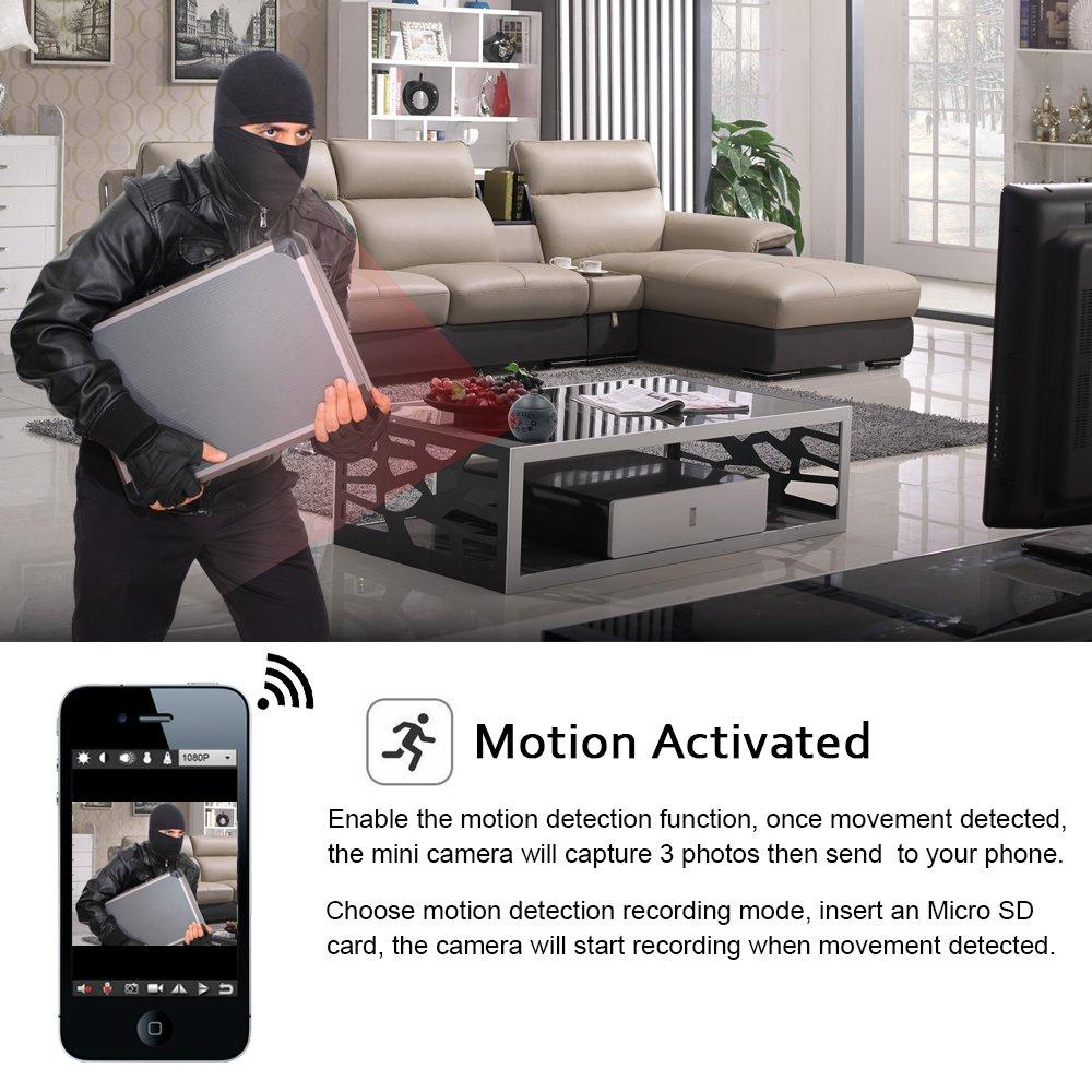 Cámara Espía, TANGMI Cámara Oculta WiFi, Cámara de Niñera 1080P HD Mini Cámara Detección de Movimiento Visión Nocturna Grabadora de Vídeo: Amazon.es: ...