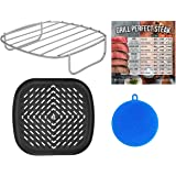 Air Fryer Rack and Grill Pan Accessories Compatible with NuWave, Philips, Chefman, Dash, Cosori, Costzon, Secura…