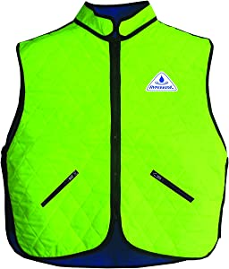 Deluxe Evaporative Cooling Vest,Lime,Small