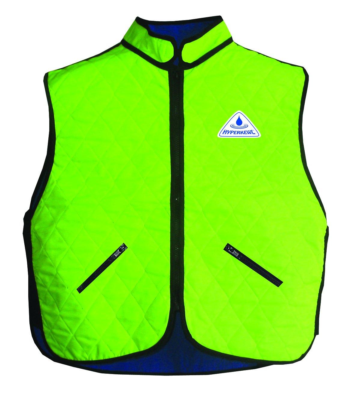 HyperKewl 6530-HV-M Evaporative Cooling Vest , Hi-Visibility Lime