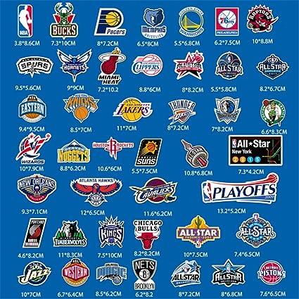 ZHANG 43 Pegatinas del Club De La NBA Pegatina para El Equipaje ...