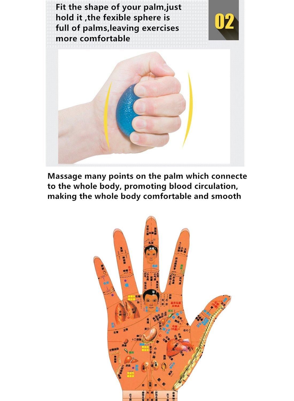 Eif/örmige Griffb/älle,Lifesport 3 St/ück Handtrainer Silikon Hand Training Egg Press Ball 3 verschiedene Widerstandsstufen f/ür Entwicklung der Hand Unterarmmuskulatur Unterarm Finger Handmuskel