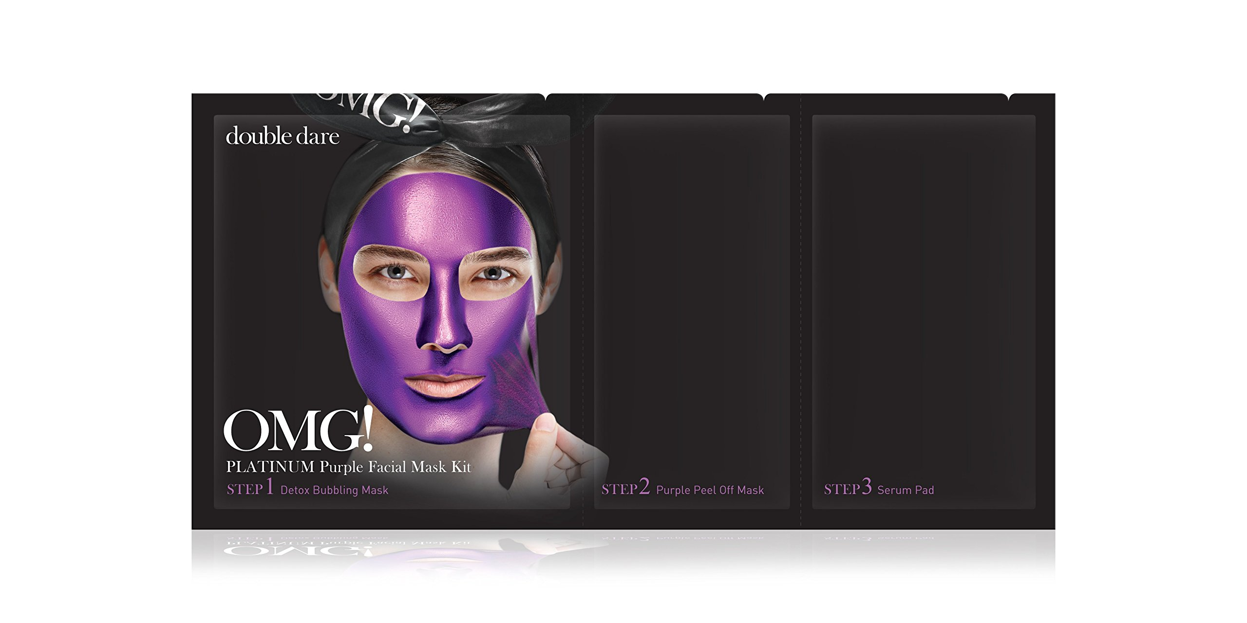 Double Dare, OMG, Platinum Green Facial Mask Kit, 3 in 1 Kit(pack of 4) 6 Pack - Lancome Eau Micellaire Douceur Express Cleansing Water 6.7 oz