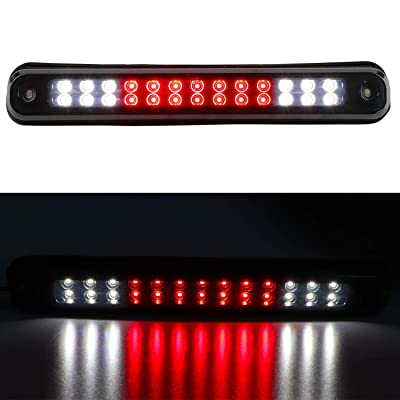 Sanzitop LED 3rd Brake Light Rear Tail Brake Light Cargo Lamp Replacement Fit for 1988-1998 Chevy GMC C/K C10 1500-3500 Silverado Sierra 16521970 16522433 (Black Housing Smoke Lens): Automotive