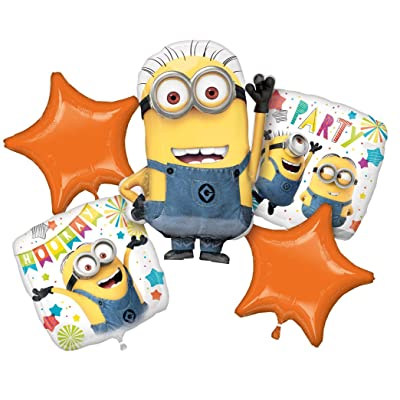 Amscan 3614901 Set Despicable Me Minions Foil Balloon: Kitchen & Dining
