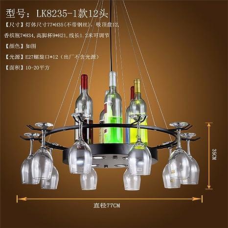Botella de vidrio candelabro personalidad creativa Restaurante Bar Cafetería Tienda de ropa retro eólica industrial hierro