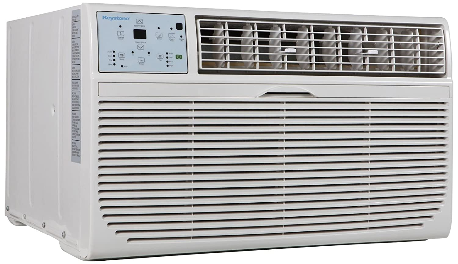 Keystone KSTAT10-2C 10000 BTU 230V Through-The-Wall Air Conditioner with Follow Me LCD Remote Control
