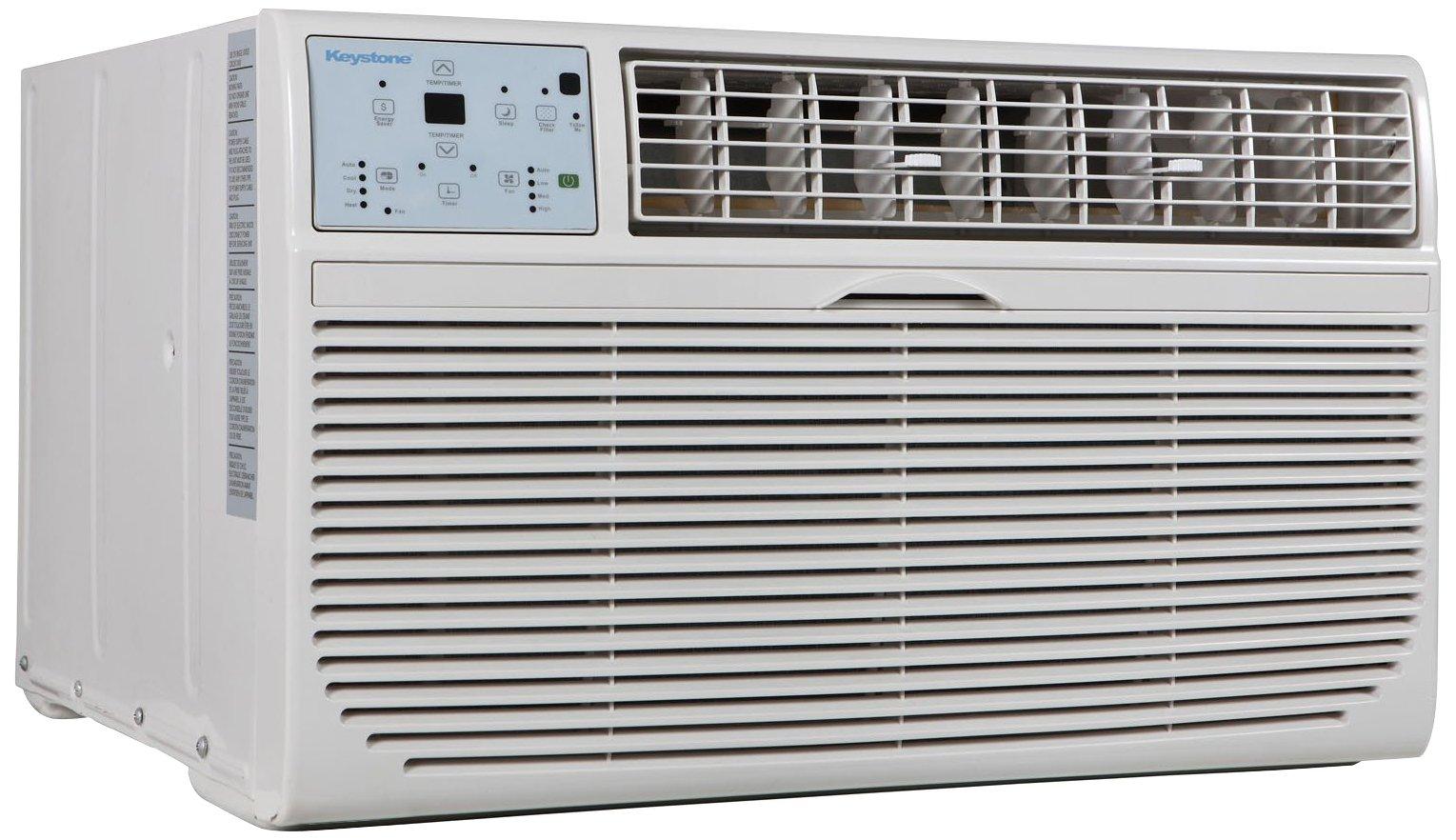 Keystone KSTAT10-2C 10000 BTU 230V Follow Me LCD Remote Control Through-The-Wall Air Conditioner by Keystone