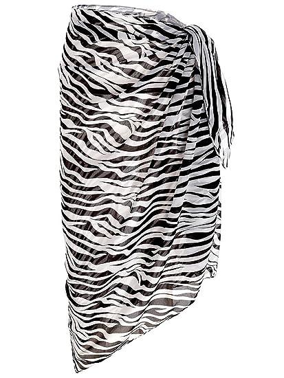ab7debd14d Ayliss Womens Swimwear Chiffon Printed Cover up Beach Sarong Pareo Bikini Swimsuit  Wrap,#10