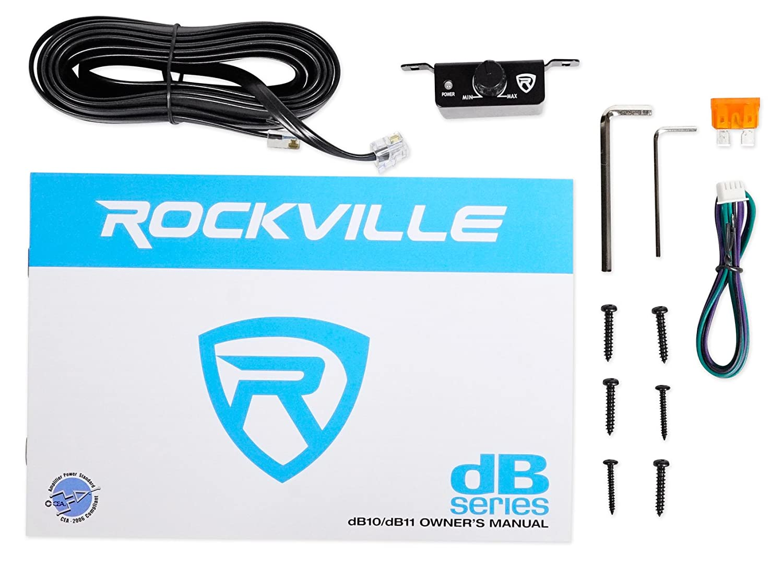Rockville dB11 1400w Peak //350w RMS @ 2 Ohm CEA Compliant Mono Car Amplifier+Bass Remote