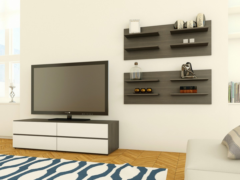 Amazon nexera 220530 allure decorative wall shelf ebony amazon nexera 220530 allure decorative wall shelf ebony home kitchen amipublicfo Choice Image