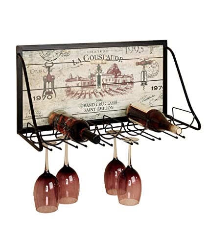 Wine Rack Wall Holder Metal | LOFT Estante de almacenamiento en estantería de pared | Soporte