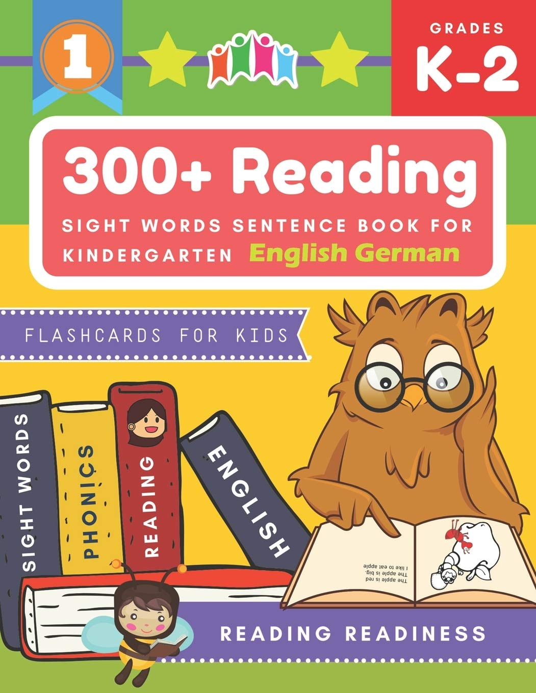 300+ Reading Sight Words Sentence Book for Kindergarten English German Flashcards for Kids: I Can Read several short sentences building games plus ... reading good first teaching for all children