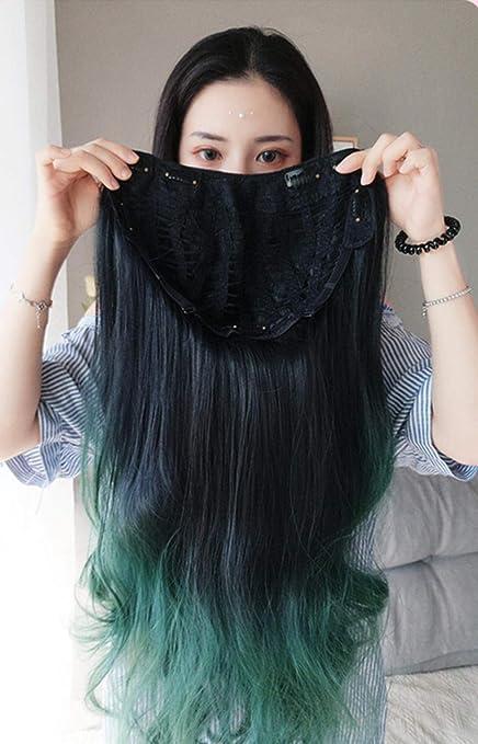GAOWS Sexy Lindas extensiones de cabello - verde Peluca ...
