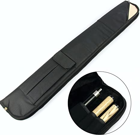 Funky Chalk Luxury Fur Lined Centre Joint Pool Snooker Cue Case-Holds Butt & 2 Shafts Funky-Funda para Taco Billar (Forro de Piel sintética), Unisex Adulto: Amazon.es: Deportes y aire libre