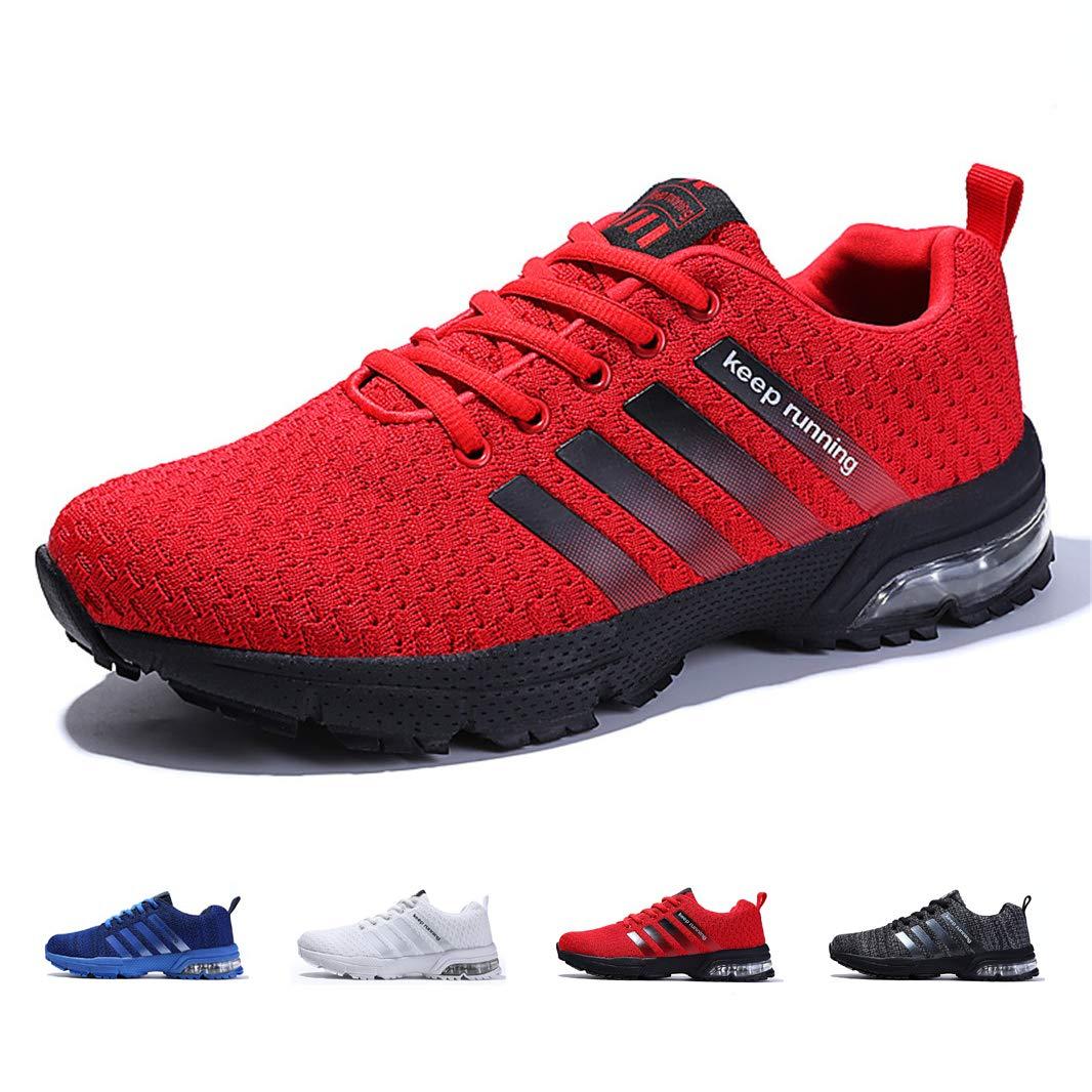 TALLA 41 EU. ZIITOP Zapatillas Hombres Deporte Running Zapatos para Correr Air Cushion Gimnasio Sneakers Deportivas Padel Transpirables Casual