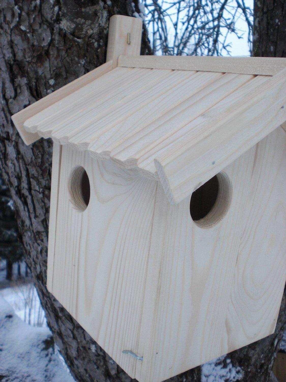 Eichhörnchen-Haus (Ei-Haus) -XXXL-Eichhörnchenhaus-Futterautomat-Futterhaus-Nistkasten-Kobel-Holzschindeldach-Vogelhaus Handarbeit vom Schreiner